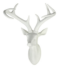 white stag head