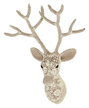 fabric lace deer stags head