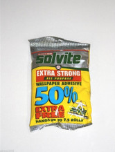 solvite wallpaper paste glue adhesive hangs up to 7 rolls