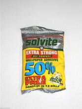 solvite wallpaper paste glue adhesive hangs up to 7 rolls