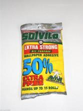 solvite wallpaper paste glue adhesive hangs up to 15 rolls