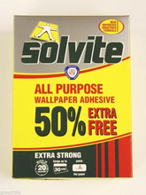 solvite wallpaper paste glue adhesive hangs up to 30 rolls