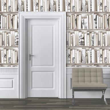 Encyclopedia Bookshelf Wallpaper   Muriva Wallpaper   Lancashire ...