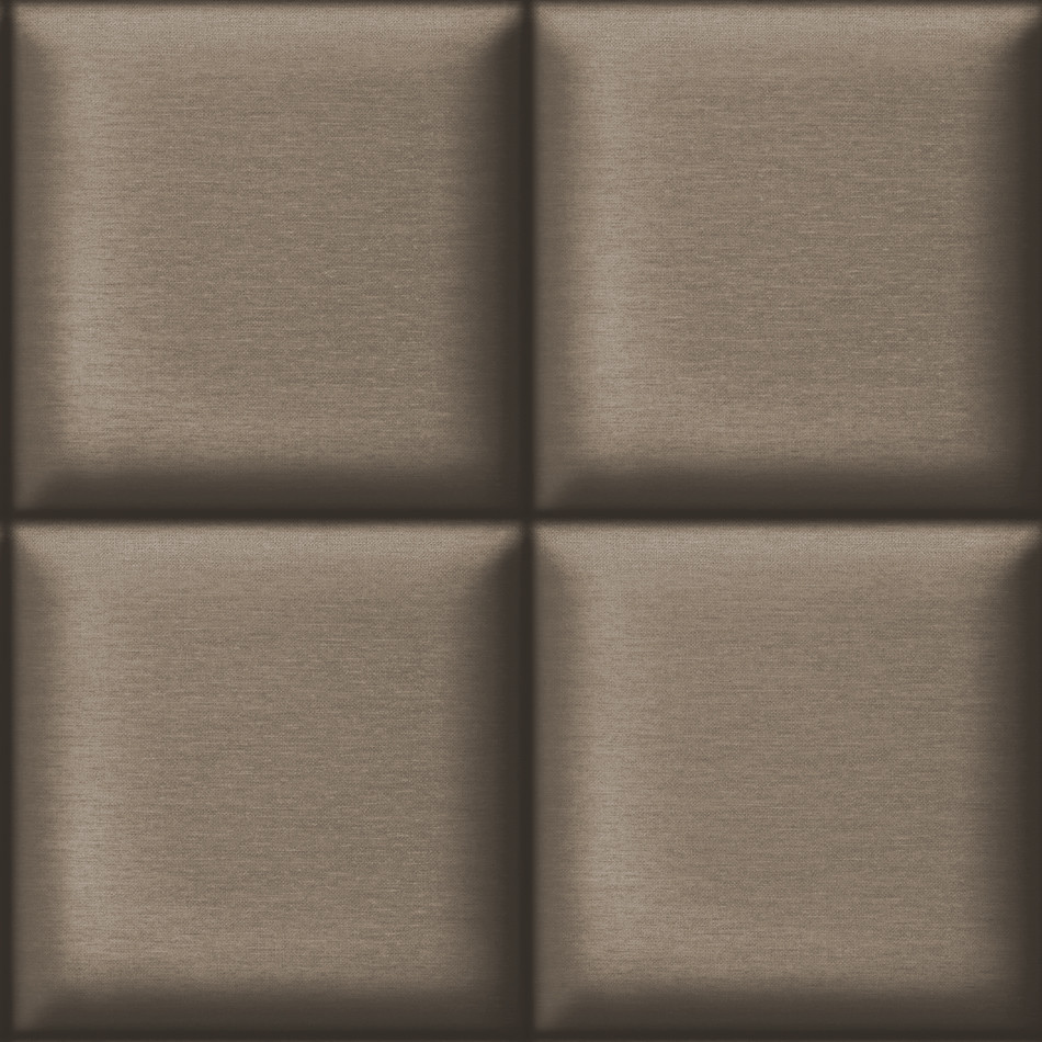Square padding chocolate muriva wallpaper lancashire for Padded wall wallpaper