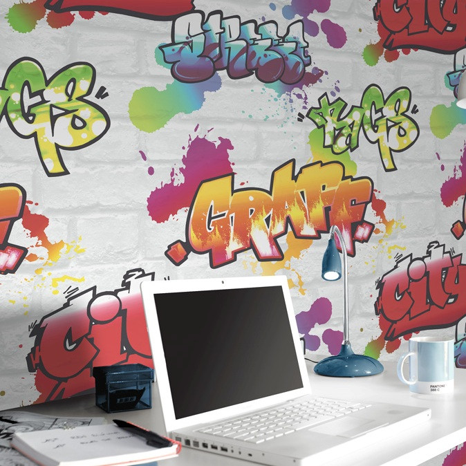 Graffiti Wallpaper For Girls Bedroom