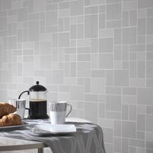 kitchen and bathroom grey glitter tile wallpaper