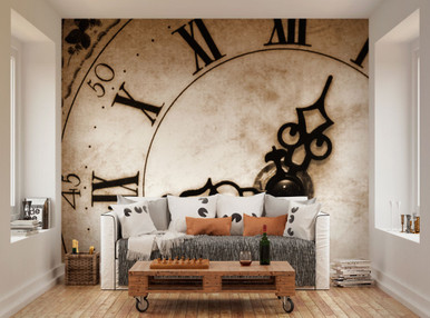 Time piece mural oh popsi wall murals lancashire for Clock wall mural