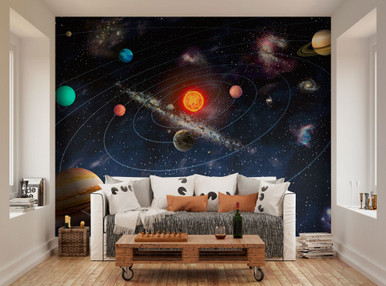 Attractive ... Solar System Wall Mural WAL0077. Image 1