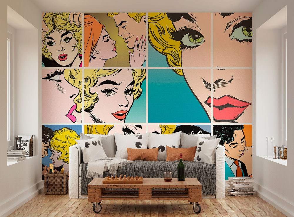 pop art mural oh popsi wall murals lancashire wallpapers. Black Bedroom Furniture Sets. Home Design Ideas
