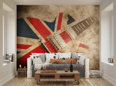 Wonderful ... Union Jack Rock Guitar Wall Mural WAL0068. Image 1 Part 27