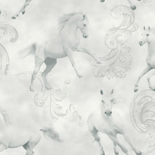 grey glitter white horses wallpaper