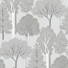 arthouse silver and grey trees wallpaper with silver glitter