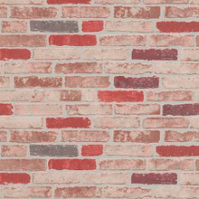 red and cream brick wallpaper