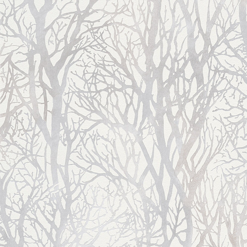 Life 3 woodland white wallpaper as creation wallpaper for White wallpaper uk