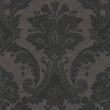 Heavy Textured Vinyl Black Damask Wallpaper