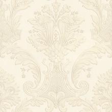 Heavy Textured Vinyl Cream Damask Wallpaper