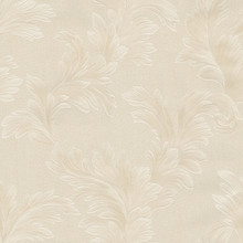 Heavy Textured Large Beige Leaf Wallpaper