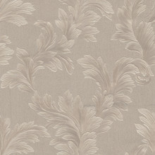 Heavy Textured Large Taupe Leaf Wallpaper