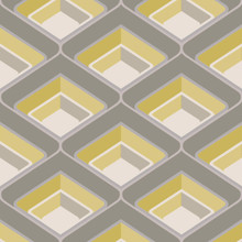 Textured Modern Grey and Yellow Retro Wallpaper