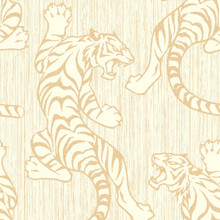 Cream and Gold Full Tiger Wallpaper