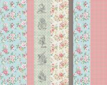 Alice in Wonderland Fabric Pattern Mural