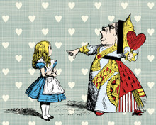 Alice in Wonderland Queen Of Hearts Wall Mural