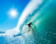 Surfing Large Wave Mural Wallpaper