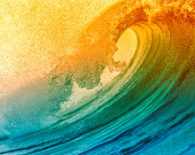 Large Multicoloured Wave Mural Wallpaper