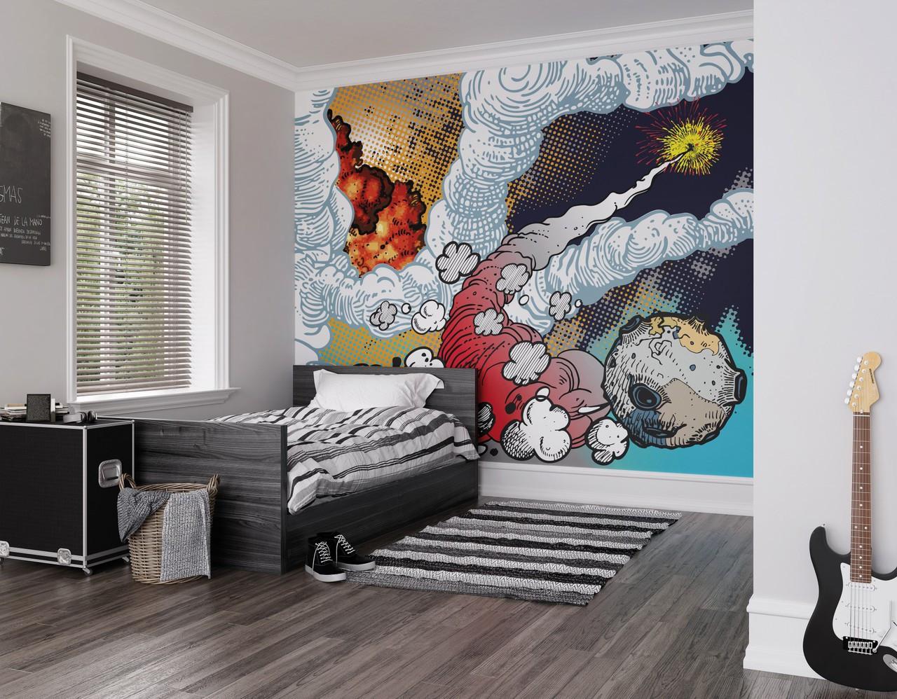 Galaxy battle mural oh popsi wall murals lancashire for Siege mural rabattable