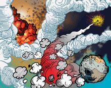 Cartoon Space Galaxy Mural Wallpaper