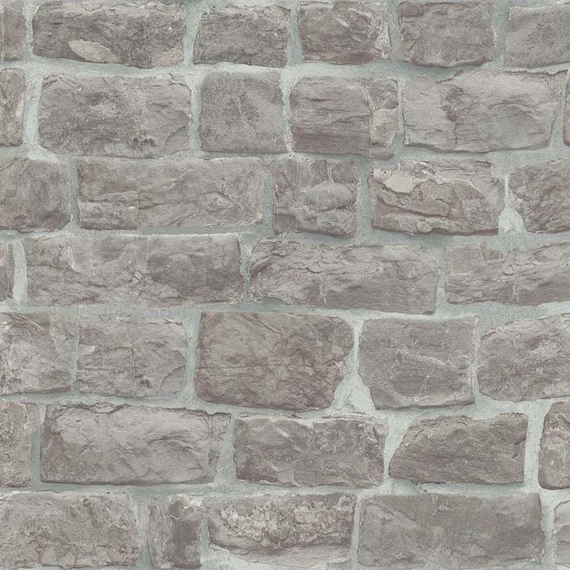 brix stone light grey wallpaper erismann wallpaper. Black Bedroom Furniture Sets. Home Design Ideas