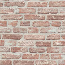 Red Textured Brick Wall Effect Wallpaper