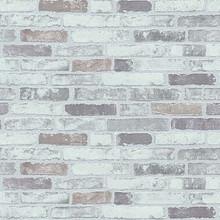 lilac and grey brick wallpaper