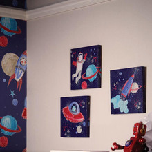 Starship Blue Space Canvases