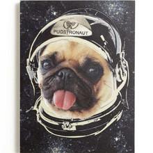 Space Pug Dog Canvas