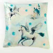 Fairytale Blue Unicorn Cushion