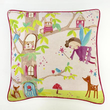 Enchanted Pink Fairies Cushion