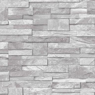 Stone Light Grey Wallpaper | Ideco Wallpaper | Lancashire ...