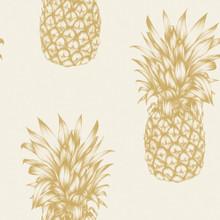 Copacabana Gold Pineapple Wallpaper