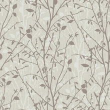 Bosco Dark Taupe Woodland Tree Wallpaper