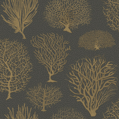 cole and son black and gold trees wallpaper