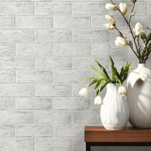 P+S Paintable Textured Grey Brick Wallpaper