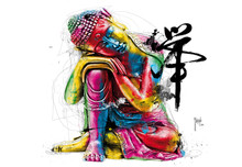 Multicoloured Buddha Feng Shui Wall Mural