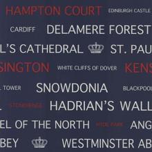 Blue Britain Words Wallpaper