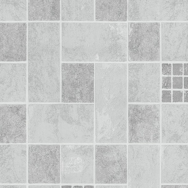 Grey Kitchen Bathroom Tile Effect Wallpaper