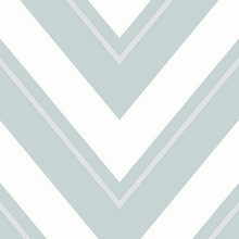Teal and white chevron zigzag wallpaper