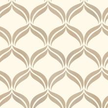 Wentworth Cream Glitter Geometric Wallpaper