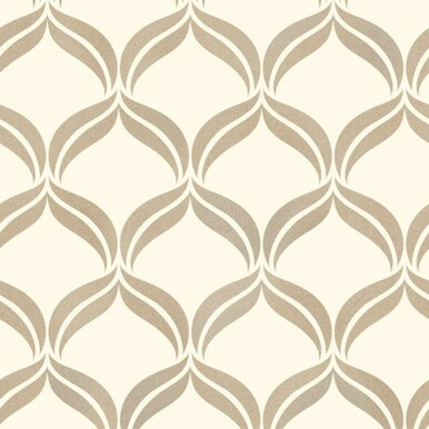 Wentworth Geometric Cream Wallpaper Fine Decor Wallcoverings - Brown and cream wallpaper