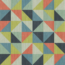Multicoloured triangle squares geometric wallpaper