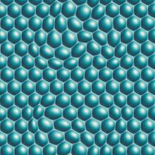 Aqua blue 3d bubble effect wallpaper